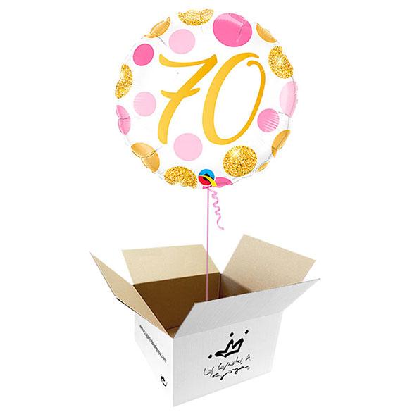 Globo 70 años en caja sorpresa