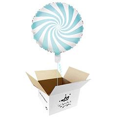 Globo Caramelo celeste suave en caja sorpresa