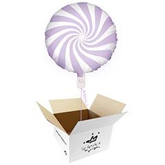 Globo Caramelo lila suave en caja sorpresa