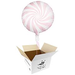Globo Caramelo rosa suave en caja sorpresa