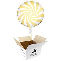 Globo Caramelo amarillo suave en caja sorpresa