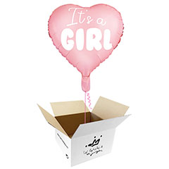 Globo Estrella It's a GIRL en caja sorpresa
