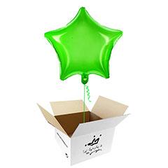 Globo Estrella Verde en caja sorpresa
