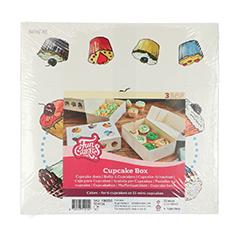 Cajas para 6 Cupcakes con dibujos, Pack 3 u.