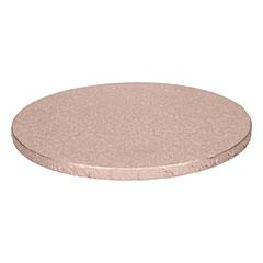 Base redonda para tartas en color rosa oro