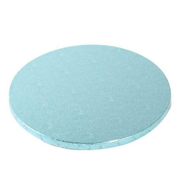 Base/cake drum redonda para tartas en color celeste