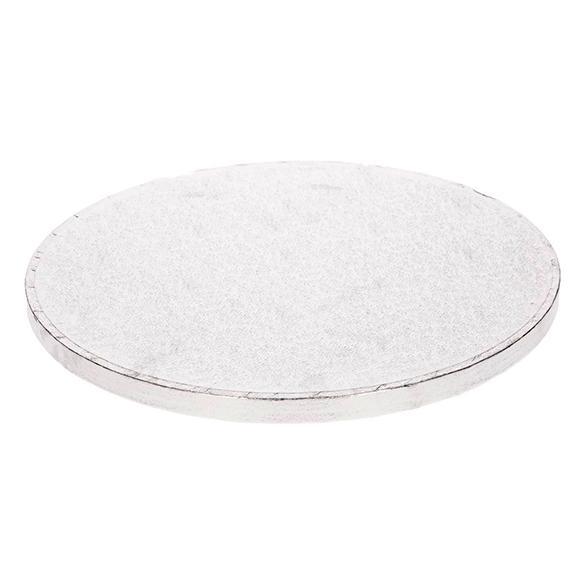Base/cake drum redonda para tartas en color plata