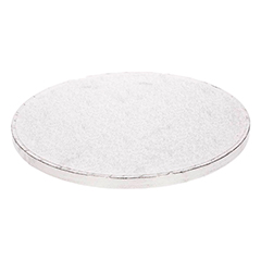 Base/cake drum redonda para tartas en color plata