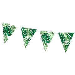 Guirnalda banderines hojas tropicales Aloha