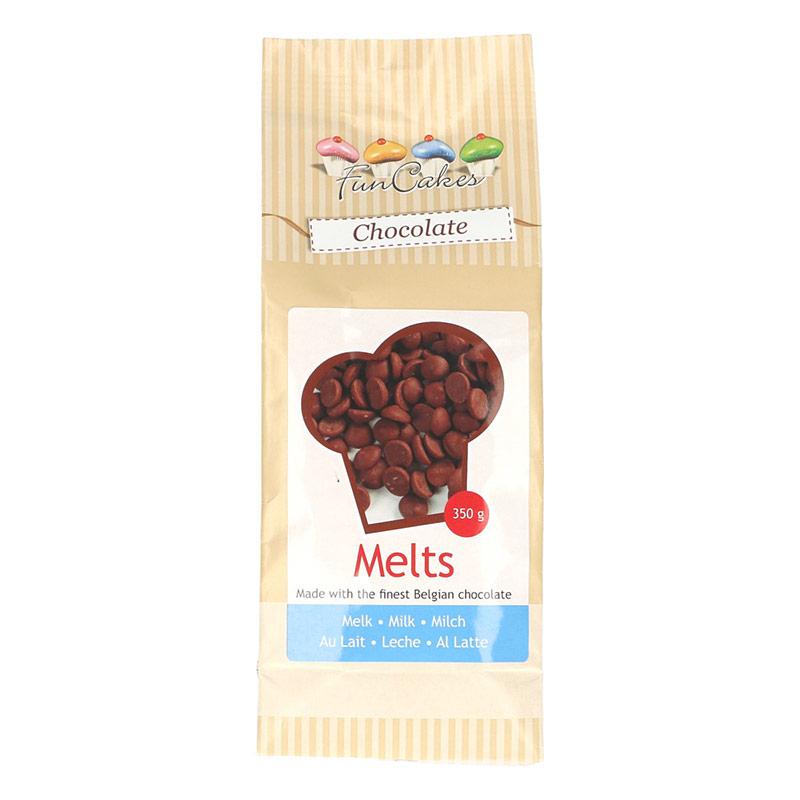 Chocolate Melts con Leche para fundir FunCakes, 350 gr.