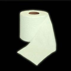 Papel WC fosforescente, brilla en la oscuridad