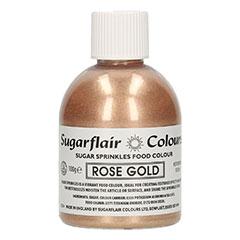 Azúcar Sugarflair Sprinkles oro rosa,100 gr.