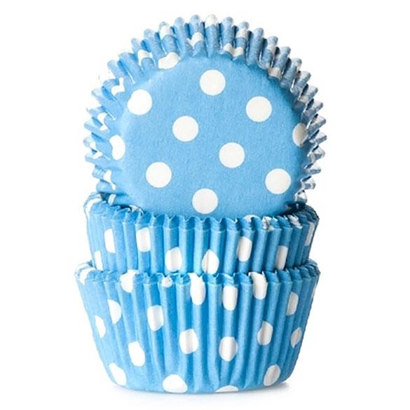 Cápsulas mini cupcakes celestes lunares HM, Pack 60 u.