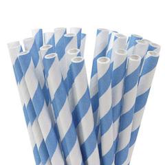 Pajitas/palillos cake pops azul y banco 15,00 cm, Pack 20 u.