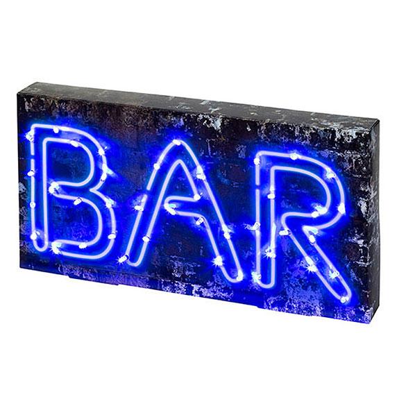 Cartel luminoso Bar