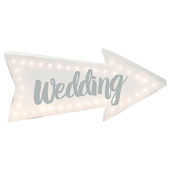 Cartel luminoso Wedding