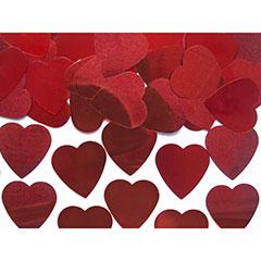Confeti metálico forma corazones