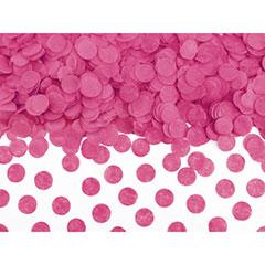 Confeti de papel redondo fucsia