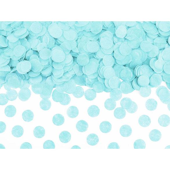 Confeti de papel redondo celeste
