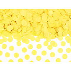 Confeti de papel redondo amarillo