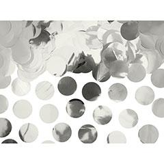 Confeti de papel redondo plateado metalizado