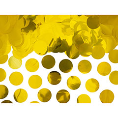 Confeti de papel redondo dorado metalizado