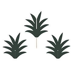 Pinchos decorativos hojas de Piña 3D, Pack 6 u.