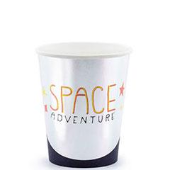 Vasos Space Party surtidos 200 ml, Pack 6 u.
