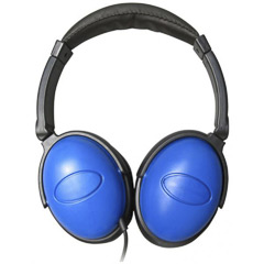 Cascos azules con cable