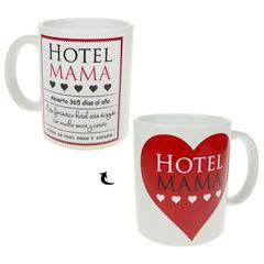 Taza con mensaje Hotel Mamá...