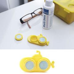 Estuche lentillas modelo submarino amarillo