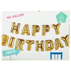 Guirnalda de globos dorados, Happry Birthday
