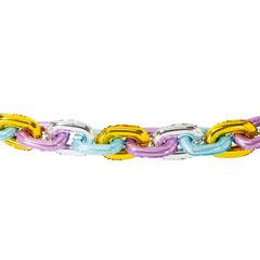 Guirnalda inflable con forma de cadena colores pastel
