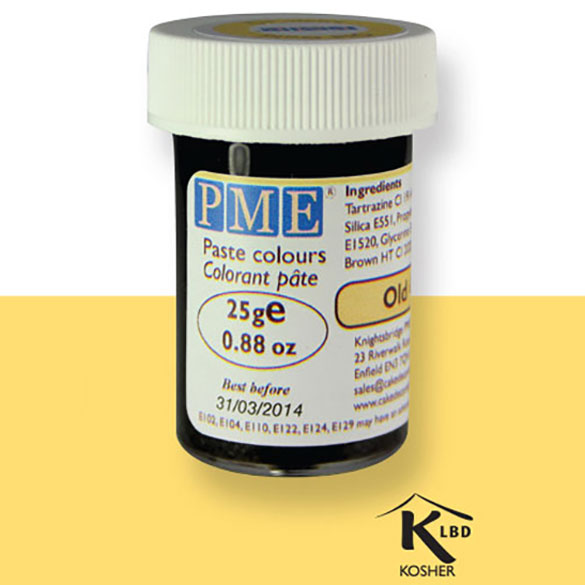 Colorante en pasta PME, Oro Envejecido, 25 g.