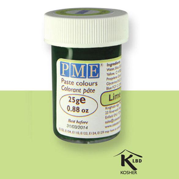 Colorante en pasta PME, Verde Pulpa de Lima, 25 g.