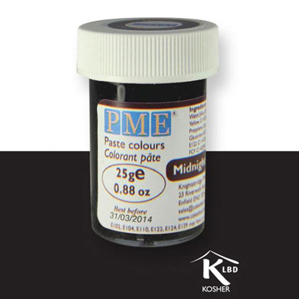 Colorante en pasta PME, Negro Medianoche, 25 g.