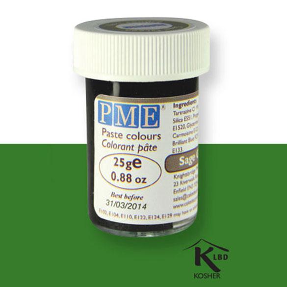 Colorante en pasta PME, Verde Salvia, 25 g.