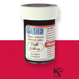 Colorante en pasta PME, Rojo Granate, 25 g.