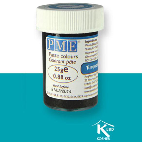 Colorante en pasta PME, Azul Turquesa, 25 g.