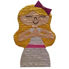 Piñata artesana Niña con flor