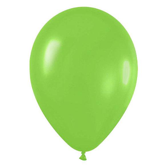 Globos de Látex Verdes Lima. Pack 50 unidades