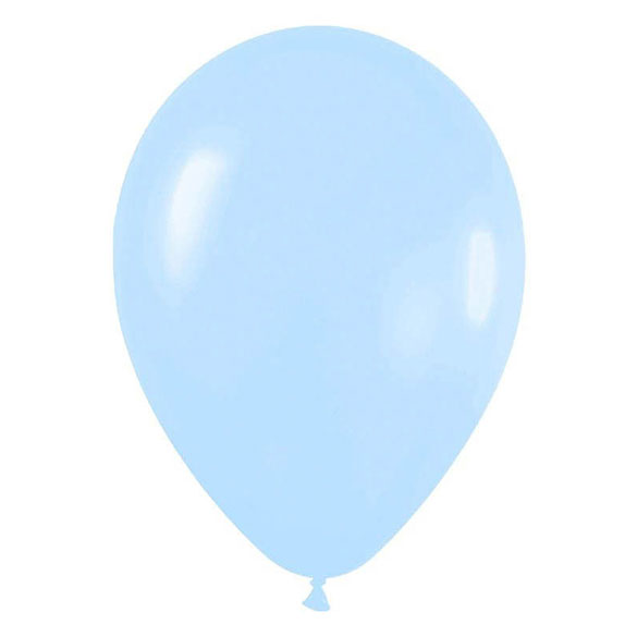 Globos de Látex Azul Cielo. Pack 50 unidades