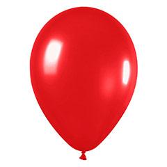 Globos de látex Rojos metalizados. Pack 12 u.