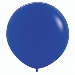 Globo de látex Azul liso 60 cm. 1 unidad