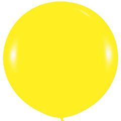 Globo de látex Amarillo liso 90 cm. 1 unidad