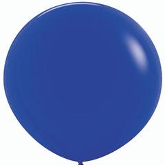 Globo de látex Azul liso 90 cm. 1 unidad
