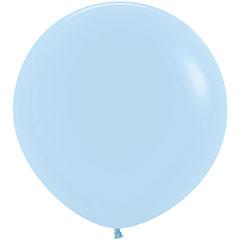 Globo de látex Azul Cielo Pastel 90 cm. 1 unidad