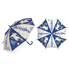 Paraguas infantil jugador y escudo Real Madrid