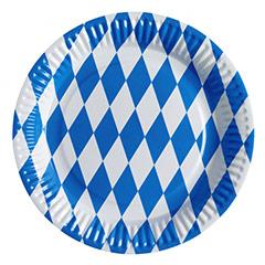 Platos Bavarian Oktoberfest 22,90 cm, Pack 8 u.