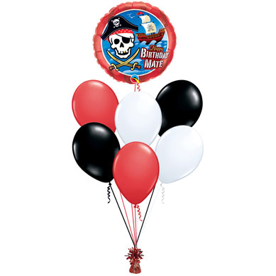 Ramo de Globos Happy Birthday Piratas